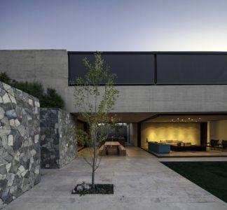 terrasse - SH House par 01arq - La Dehesa, Chili