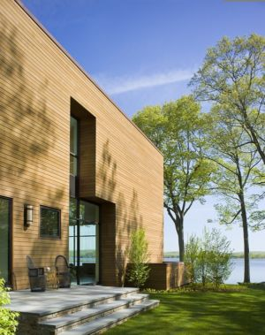 terrasse - Secluded contemporary home par Point One Architects - Essex, Usa