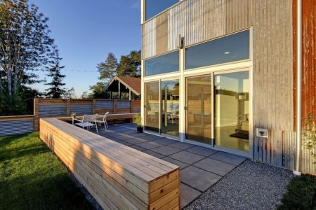terrasse - Unique Reclaimed Modern par Dwell Development LLC - Seattle, Usa