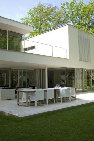 terrasse - Villa contemporaine par Clijsters Architectuur Studio - Bilthoven, Pays-Bas