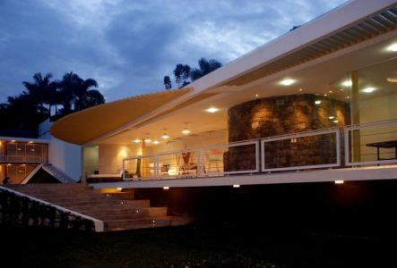 terrasse - Wa`atal House par Broissin Architects, Mexico City, Mexique