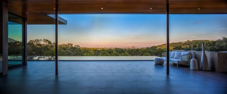 terrasse - Waterfall-House par Dick Clark + Associates. - Austin, Usa