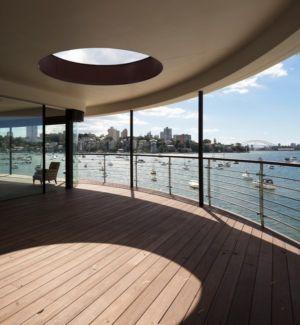 terrasse - Waterfront House par Luigi Rosselli Architects - Sydney, Australie