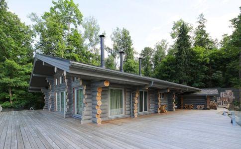 terrasse - Wooden Cottage par Elena Sherbakova près de Moscou, Russie
