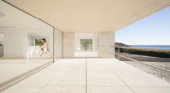 terrasse étage - Casa del Infinito par  Alberto Campo Baeza - Cadix, Espagne - photo Javier Callejas Sevilla