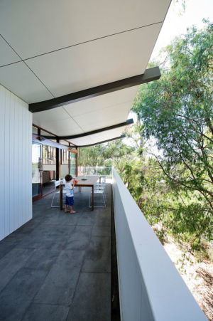 terrasse étage - Mayfair Street House par Klopper & Davis Architects - Perth, Australie