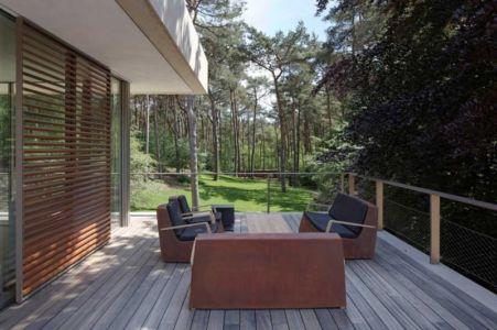 terrasse étage - The Dune Villa par HILBERINKBOSCH Architects - Utrecht, Pays-Bas