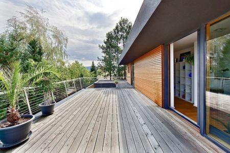 terrasse étage et accès - House W par Studio Prototype - Duiven, Pays-Bas