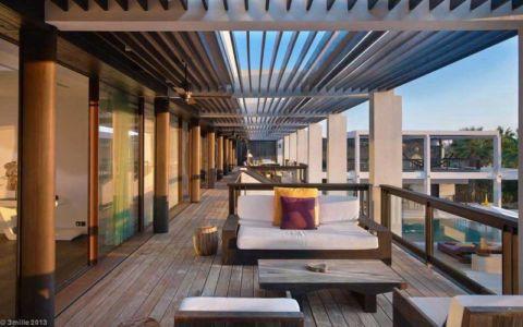 terrasse étage - villa location - France