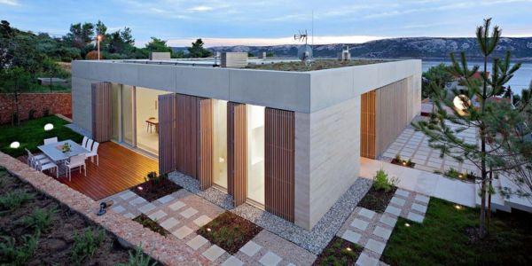 terrasse arrière - Olive House par LOG-URBIS - Pag, Croatie