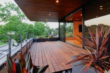 terrasse balcon - Underwood House par StudioMET - Houston, Usa