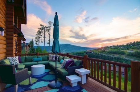 terrasse balcon - chalet contemporain Thunderhead, Colorado, Usa