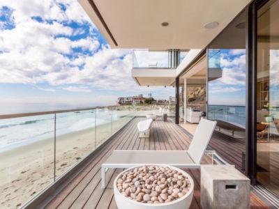 terrasse balcon - villa contemporaine à Malibu, Usa