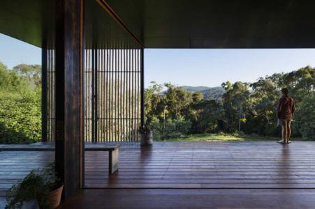 terrasse bois - Sawmill-House par Archier - Yackandandah, Australie
