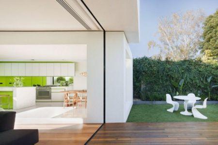 terrasse bois & jardin - white cube par Matt Gibson Architecture - Melbourne, Australie