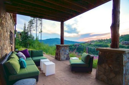 terrasse - chalet contemporain Thunderhead, Colorado, Usa