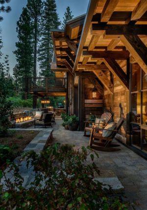 terrasse - chalet de luxe par Walton Architecture - Martis Camp, Usa