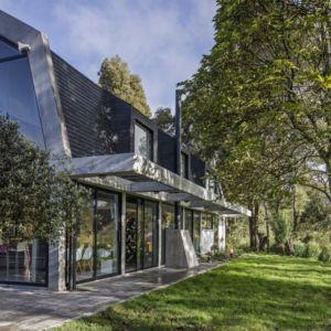 terrasse cheminée - BO House par Plan B Arquitectos - Colombie