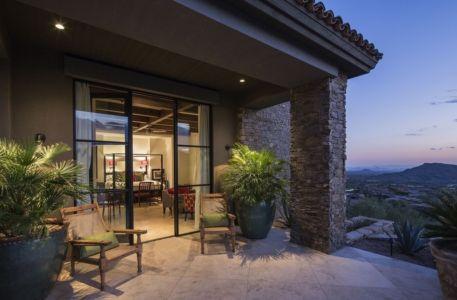 terrasse de la chambre - villa du desert par Tor Barstad -Scottsdale, Usa