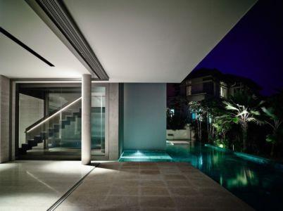 terrasse de nuit - 59BTP House par ONG&ONG - Singapour