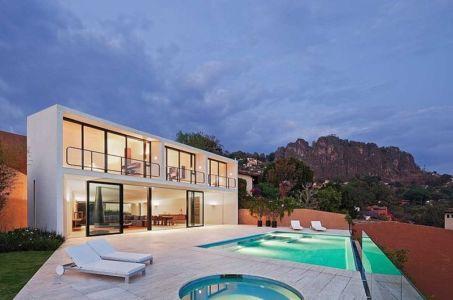 terrasse de nuit - Casa Cardenas par ParqueHumano Valle de Bravo, Mexique