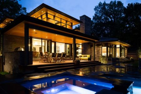 terrasse de nuit - David's house par David Small Design à Toronto, Canada
