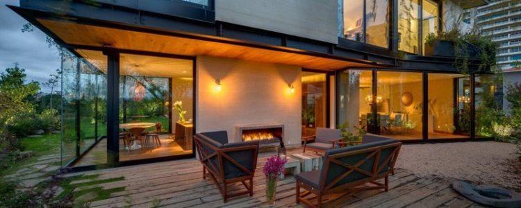 terrasse de nuit - Garden house par VGZ Architecture - Mexico, Mexique
