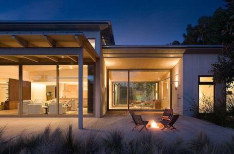 terrasse de nuit - Malibu House par Dutton Architects - Usa