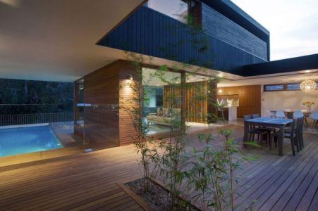terrasse de nuit - Narrabeen House par Chrofi - Narrabeen, Australie