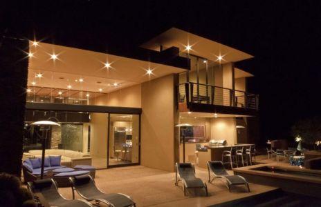 terrasse de nuit - Sefcovic Residence par Tate Studio Architects - Usa