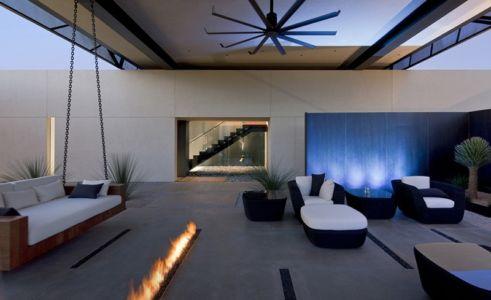 terrasse de nuit - Tresarca House par assemblageSTUDIO - Las Vegas, Nevada, Usa