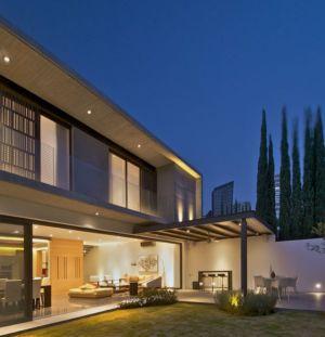 terrasse de nuit - V-House par Agraz Arquitectos - Puerta Plata, Mexique