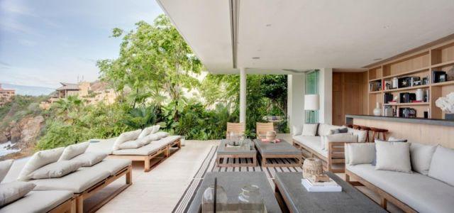 terrasse dedans dehors - Villas Finestre par CC ARQUITECTOS - Mexique - Photo Rafael Gamo & Yoshihiro Koitani