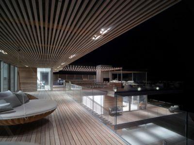 terrasse dernier étage - Ocean Deck House par Stelle Lomont Rouhani Architects - Bridgehampton, USA