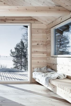 terrasse en bois et entrée - femunden par Aslak Haanhuus Arkiekter - Femund, Norvege