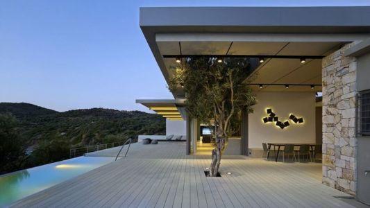 terrasse en bois - résidence exclusive par Z-Level - île Kios, Grèce