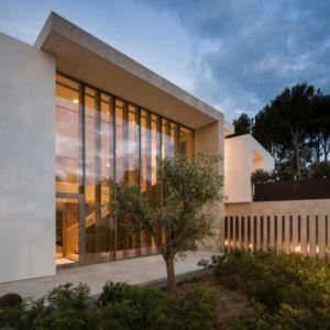 terrasse entrée - Vivienda en Son Vida par Negre Studio & Rambla 9 Arquitectura - Palma de Majorque, Espagne