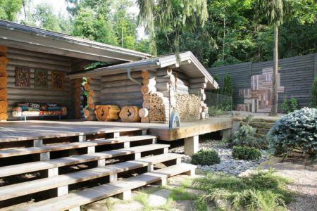 terrasse et abris bois - Wooden Cottage par Elena Sherbakova près de Moscou, Russie