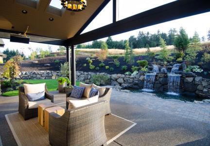 terrasse et cascade - Maison typique par TTM Development company - Portland, Usa