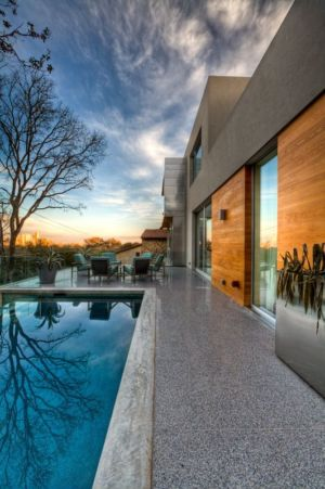 terrasse et piscine - City View Residence par Dick Clark Architecture - Austin, Usa