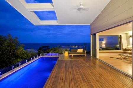 terrasse et piscine - Coolum Bays House par Aboda Design Group - Coolum Beach, Australie - photo Paul Smith
