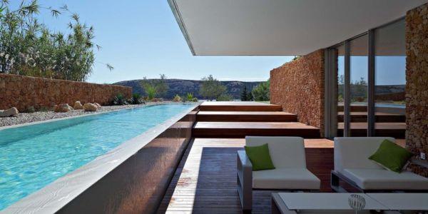 terrasse et piscine - Olive House par LOG-URBIS - Pag, Croatie