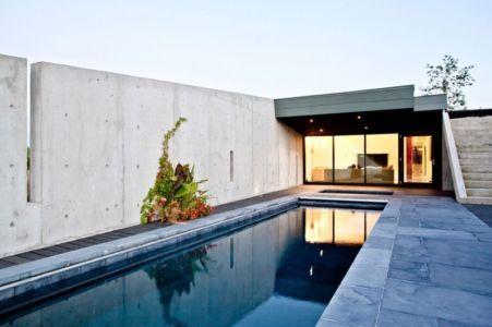 terrasse et piscine - Port Hope House par Teeple Architects - Ontario, Canada