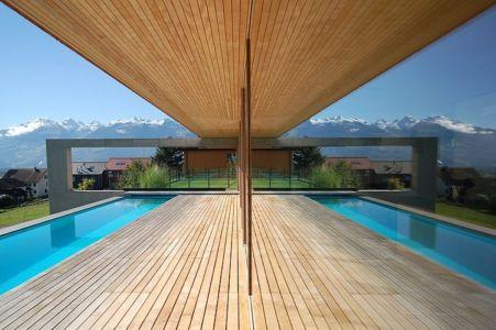 terrasse et piscine - Schaan Residence par K_M Architektur - Liechtenstein