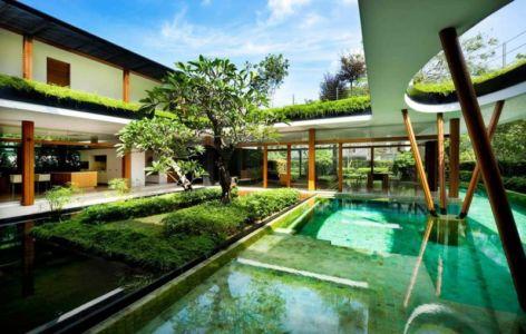 terrasse et piscine - Water Lily House par Guz Architects - Singapour