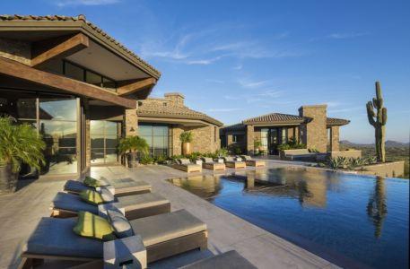 terrasse et piscine - villa du desert par Tor Barstad -Scottsdale, Usa