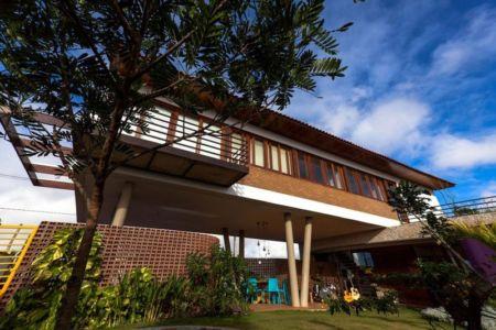 terrasse et porte à faux - Casa do Arquiteto par Jirau Arquitetura - Pernambuco, Brésil