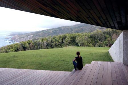 terrasse et vue panoramique - Clifftop House Maui par Dekleva Gregoric Arhitekti - Maui, Hawaï
