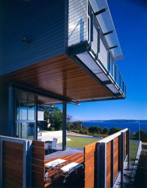 terrasse et vue sur mer - Eaton Residence par E. Cobb Architects - Seattle, Usa - Photo Paul Warchol