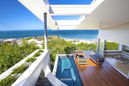 terrasse et vue sur océan - Coolum Bays House par Aboda Design Group - Coolum Beach, Australie - photo Paul Smith